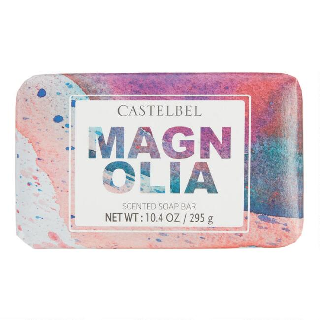 Castelbel Watercolor Spatter Magnolia Bar Soap