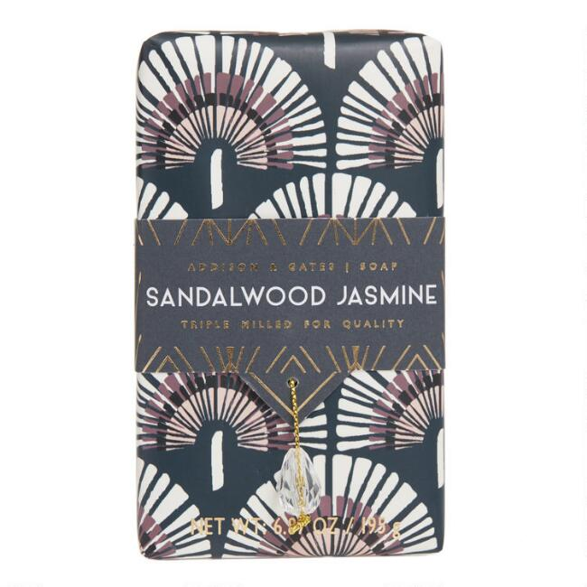 A&G Deco Gem Sandalwood and Jasmine Bar Soap