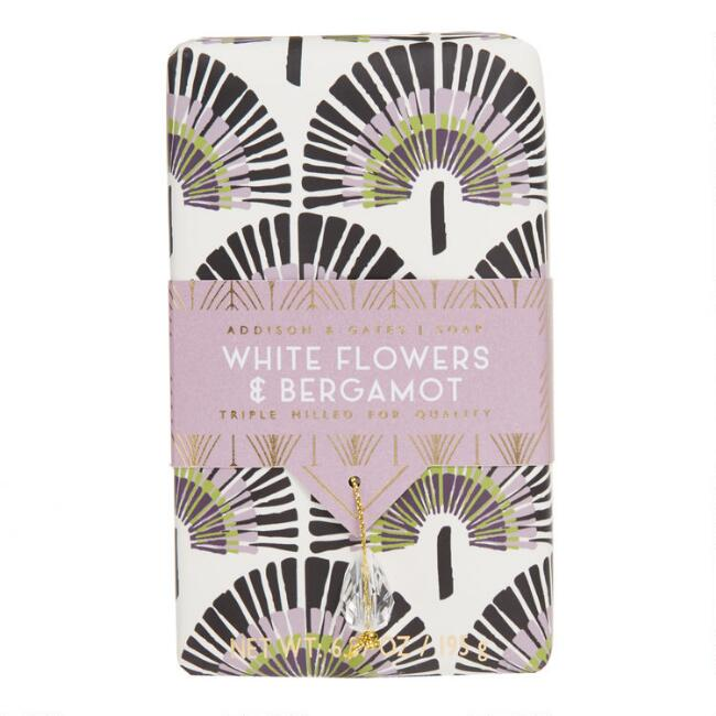 A&G Deco Gem White Flowers and Bergamot Bar Soap
