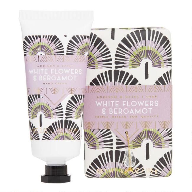 A&G Deco Gem White Flowers and Bergamot Hand Care Collection
