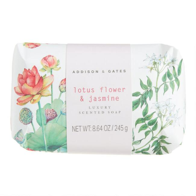 A&G Botanist Lotus Flower and Jasmine Bar Soap