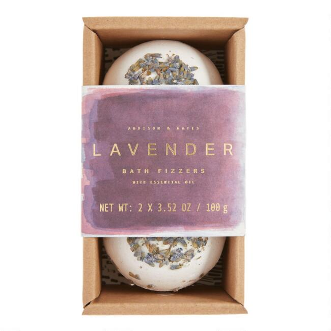 A&G Botanical Extracts Lavender Bud Bath Bombs 2 Pack