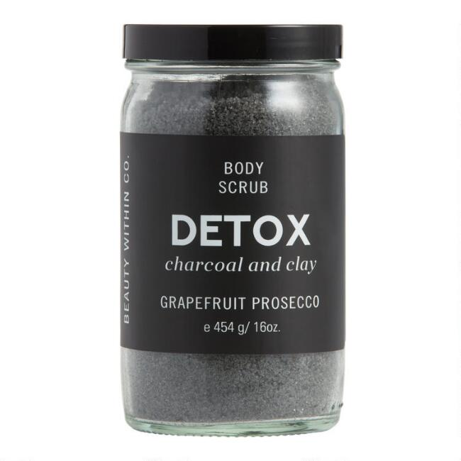 Detox Charcoal and Clay Extract Sugar Body Scrub