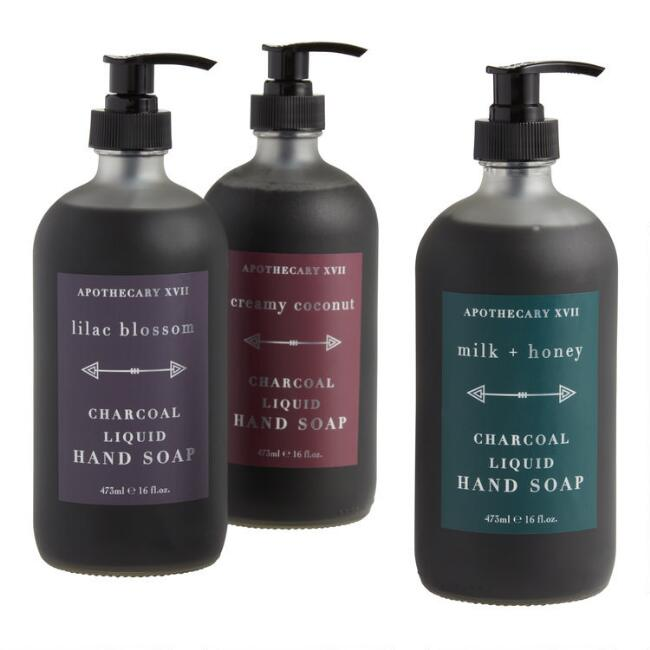 Apothecary XVII Charcoal Liquid Hand Soap Collection