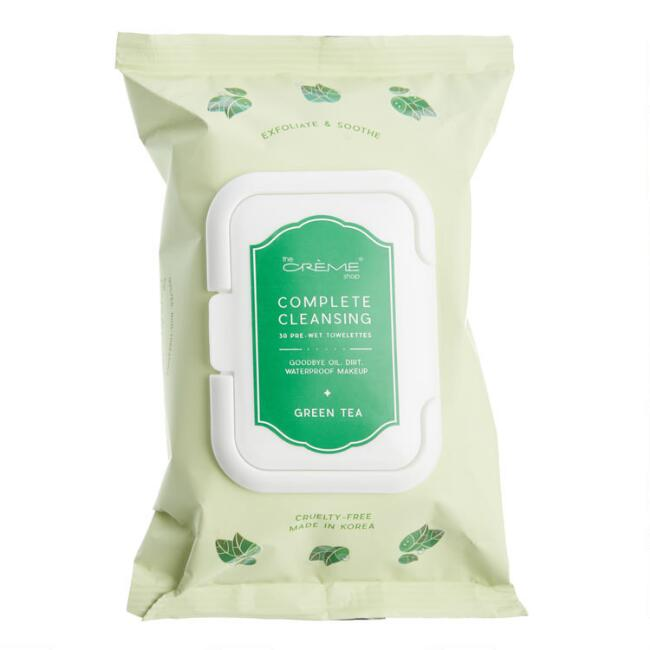 Creme Shop Korean Beauty Green Tea Cleansing Wipes