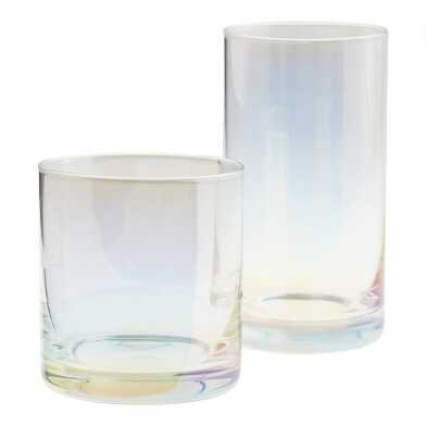 Iridescent Stemless Glassware Collection