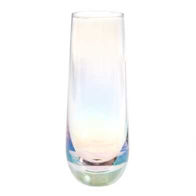 Iridescent Stemless Champagne Flutes Set of 4