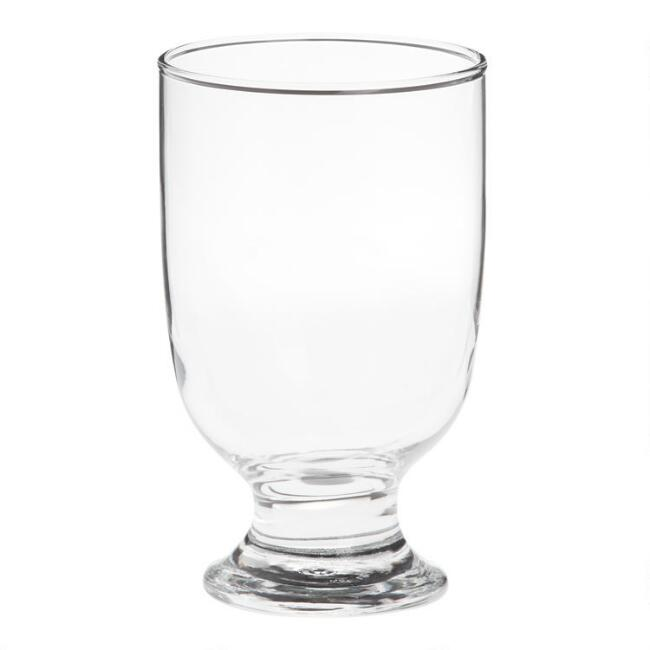 Footed Stackable Juice Glasses Set of 6