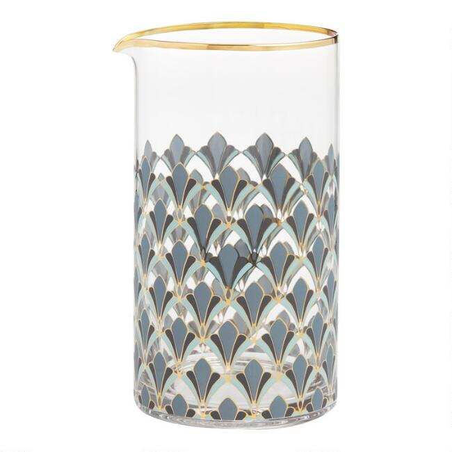 Art Deco Gable Cocktail Mixing Glass