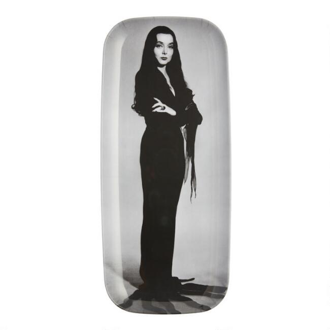 Addams Family Morticia Melamine Serving Tray