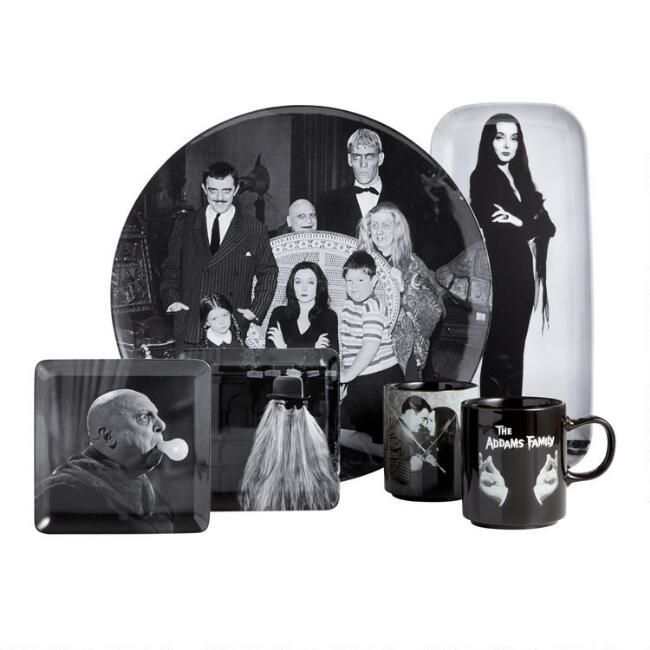 Addams Family Halloween Dishware Collection