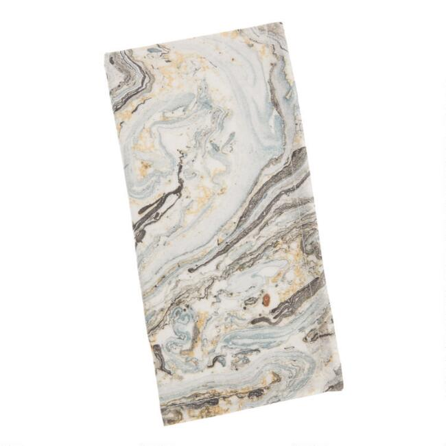 Gray Marble Print Napkins Set of 4