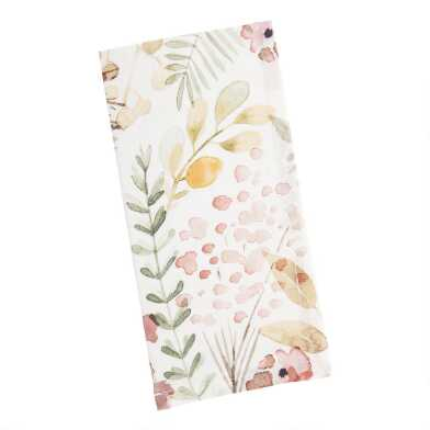 Green and Pink Fall Field Napkins Set of 4