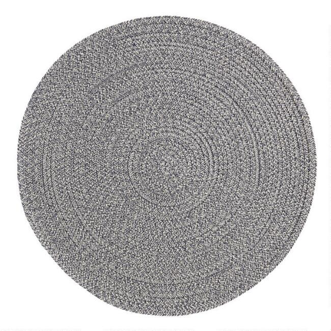 Round Indigo Braided Placemats Set of 4