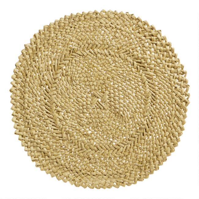 Round Natural Braided Placemats Set Of 4