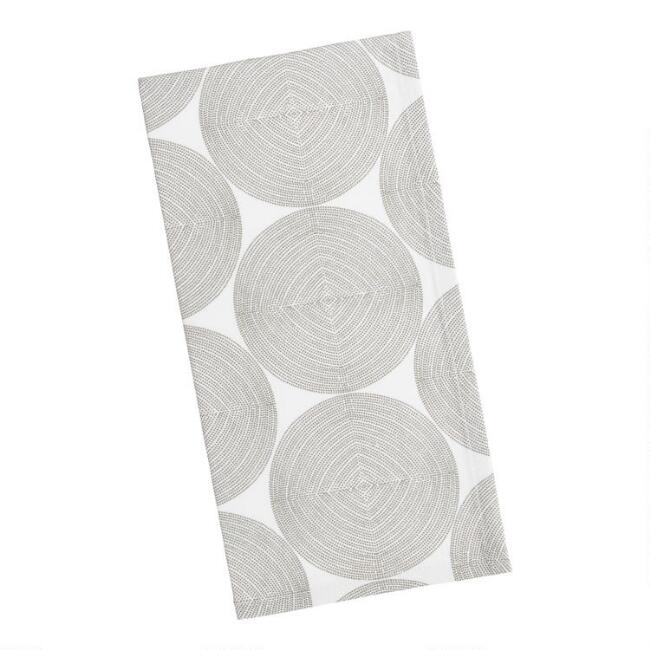 Green Abstract Dot Print Napkins Set of 4