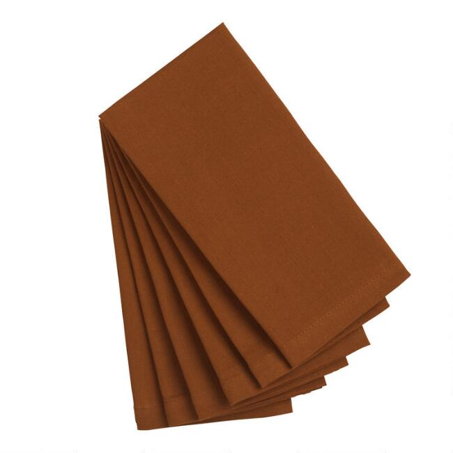 Sierra Brown Buffet Napkins Set of 6