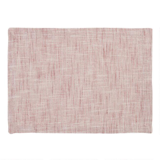 Berry Cotton Slub Placemats Set of 4