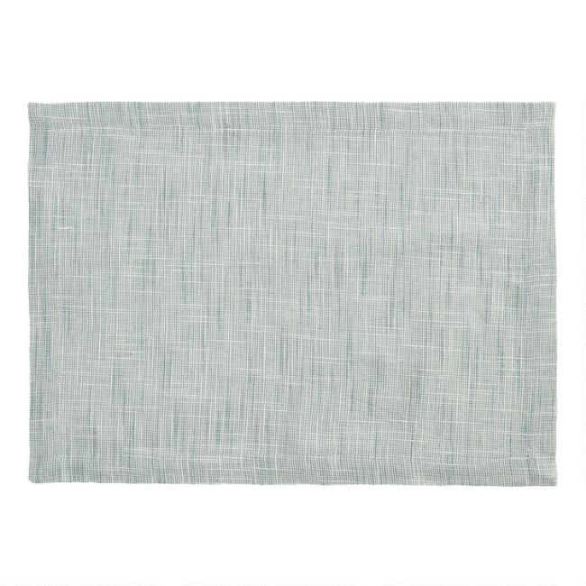 Green Cotton Slub Placemats Set of 4
