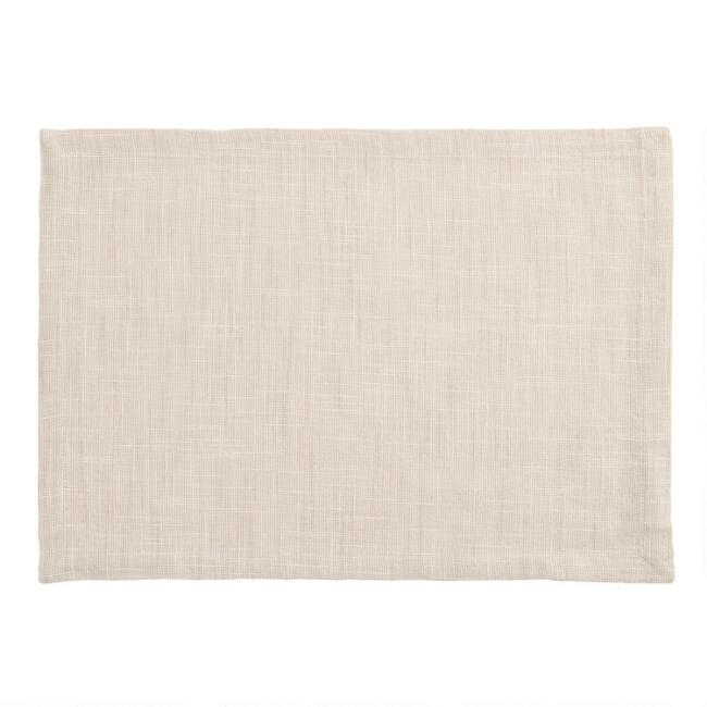 Taupe Cotton Slub Placemats Set of 4