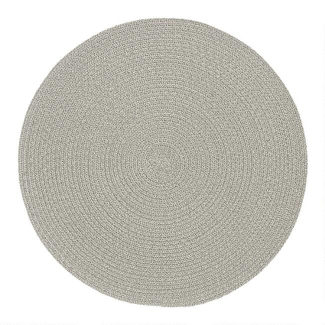 Round Gray Braided Placemats Set of 4