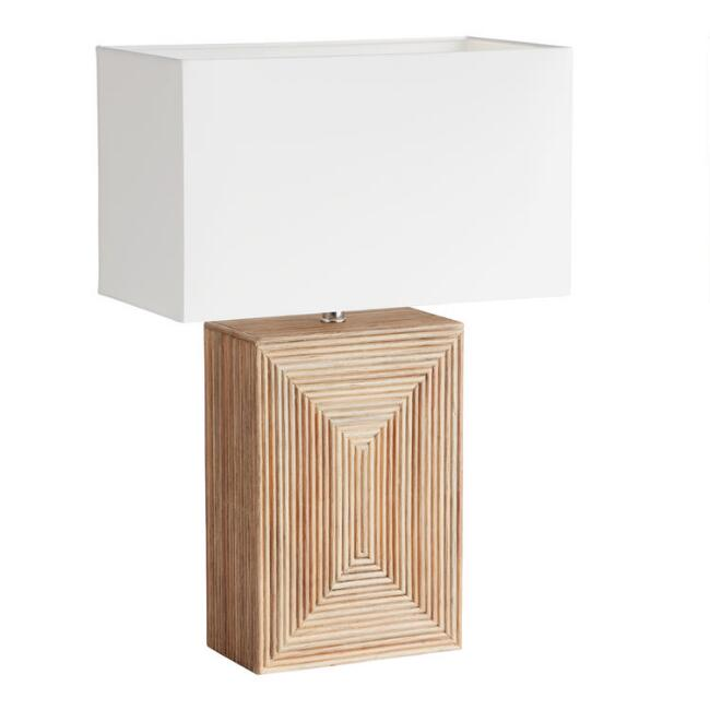 Natural Geometric Wicker Ethan Table Lamp