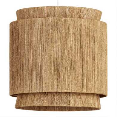 Natural Fiber 3 Tier Leyla Pendant Shade