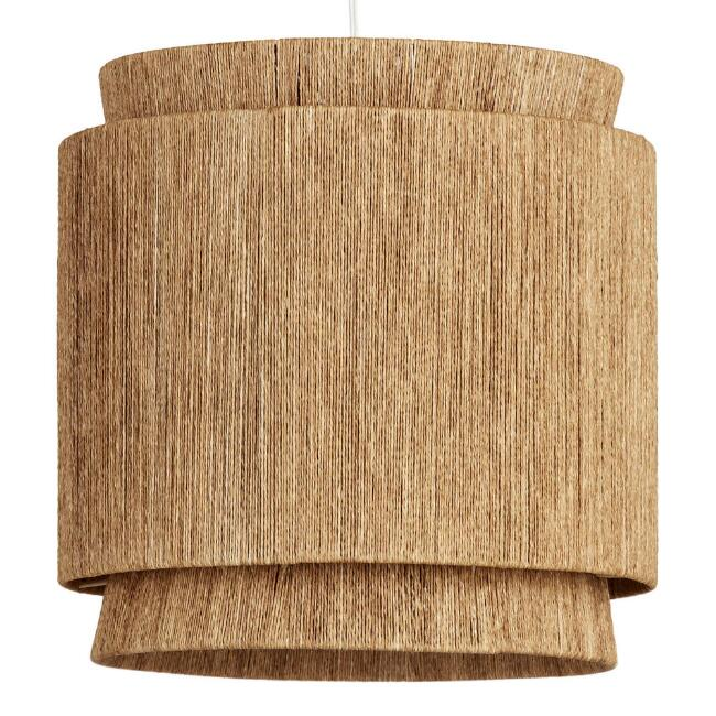 Natural Fiber 3 Tier Leyla Pendant Lamp