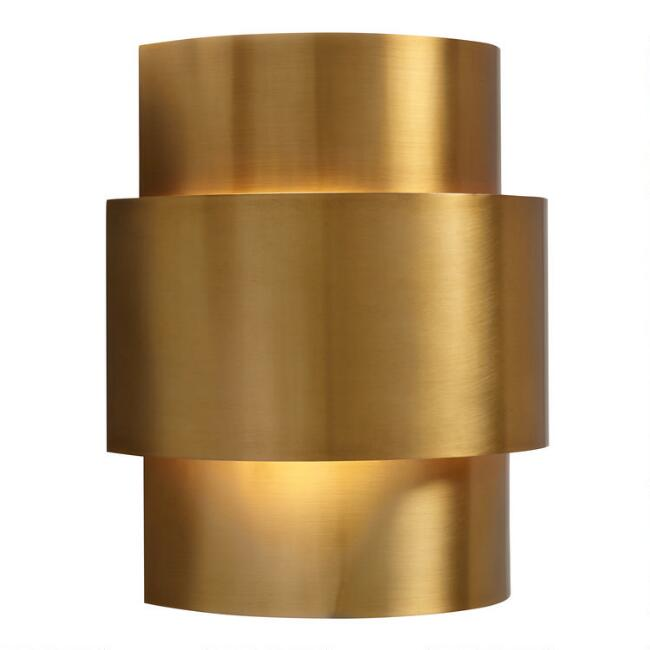 Brass 3 Tier Art Deco Wall Sconce