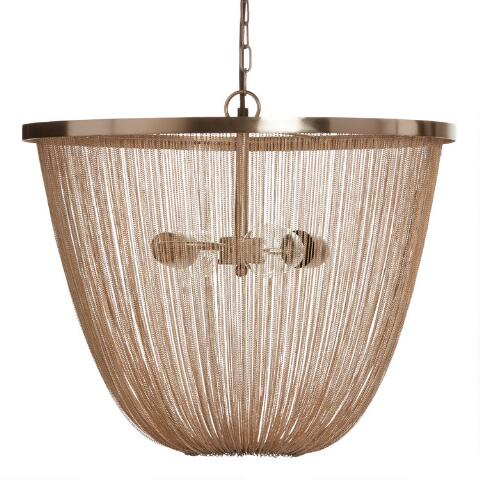 Champagne Gold Dd Metal Chain 2 Light Ella Chandelier