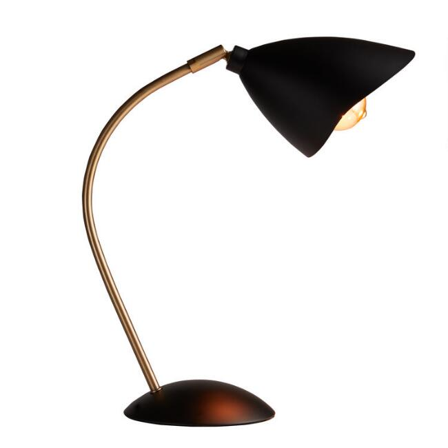 Black and Brass Ashton Task Desk Lamp