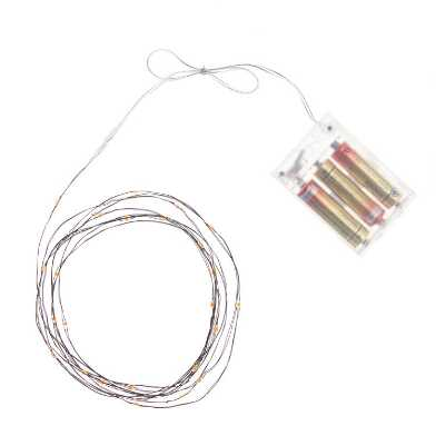 Orange Micro LED 30 Bulb Battery Operated String Lights