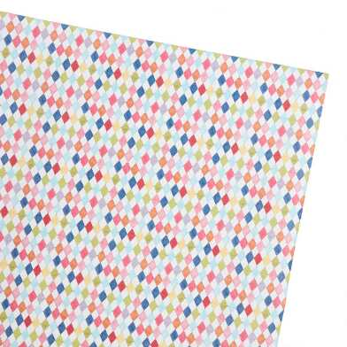Multicolor Diamond Kraft Wrapping Paper Roll