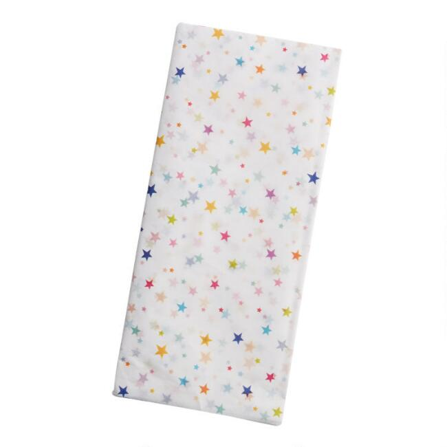 Multicolor Dots and Stars Tissue Paper Set of 2