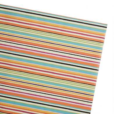 Multicolor Wide Stripe Wrapping Paper Roll