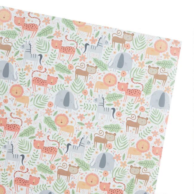 Safari Animal Wrapping Paper Roll