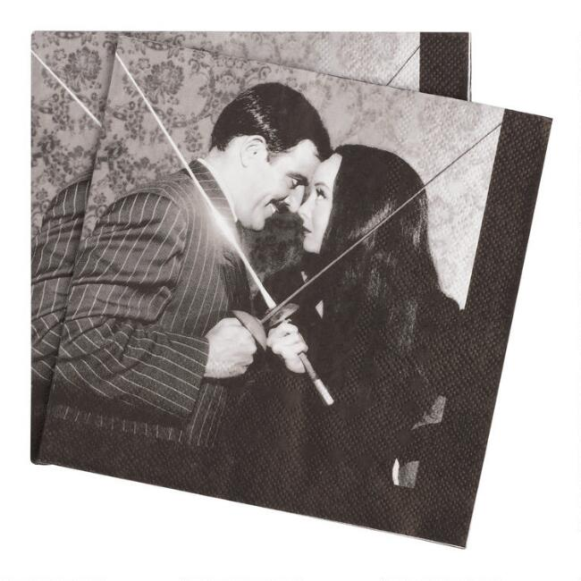 Addams Family Gomez and Morticia Lunch Napkins 20 Count