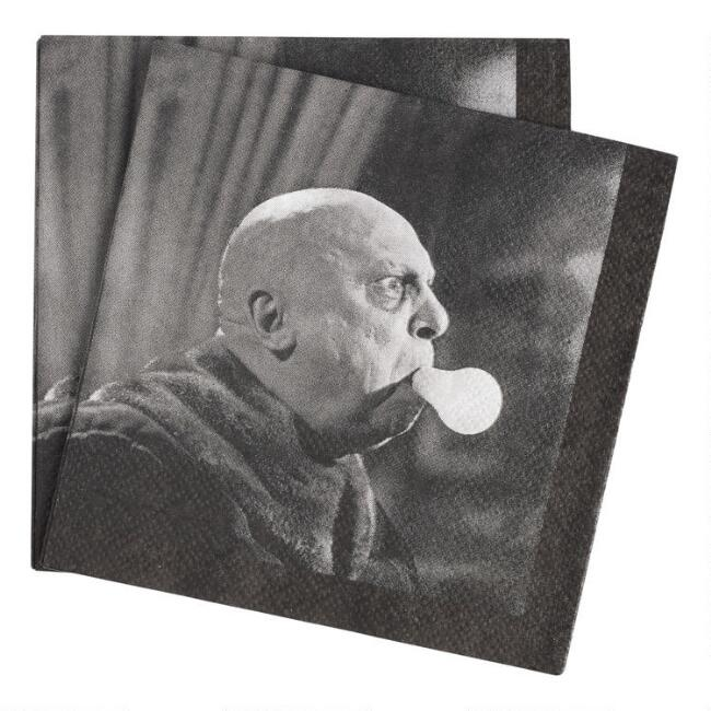 Addams Family Uncle Fester Beverage Napkins 20 Count