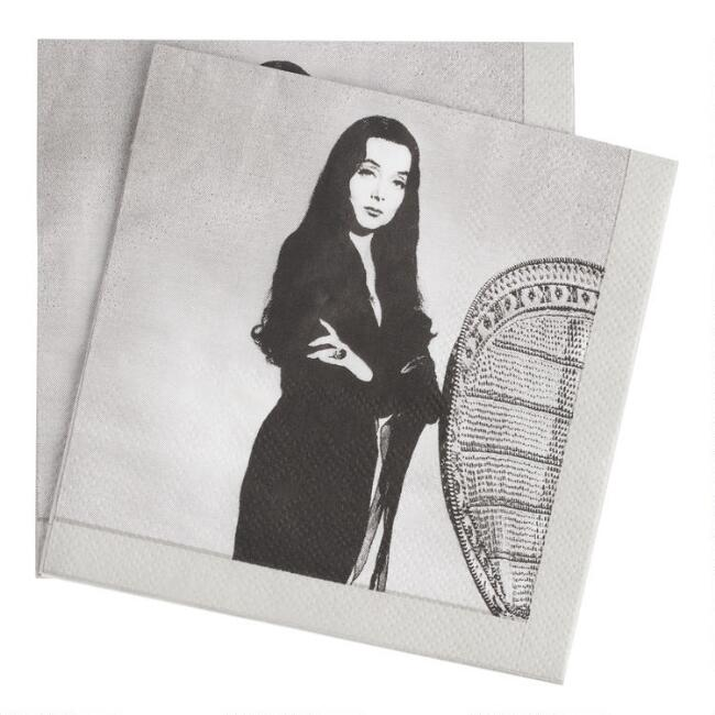 Addams Family Morticia Beverage Napkins 20 Count