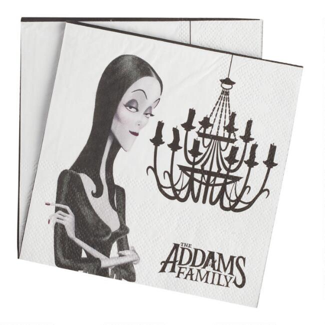 Addams Family Animated Morticia Beverage Napkins 20 Count