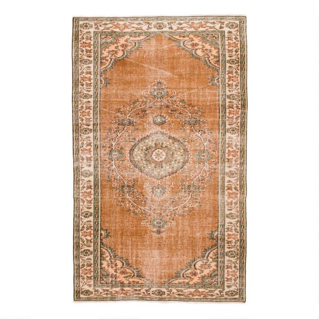 Revival Rugs Brown Wool Dankfried Vintage Area Rug