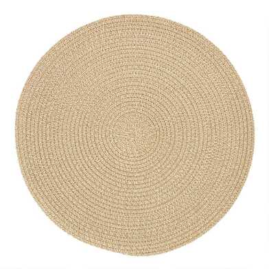 Round Oatmeal Braided Placemats Set of 4