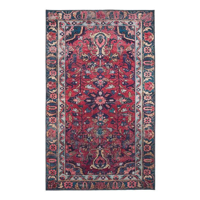 Purple and Rose Persian Style Izmir Area Rug