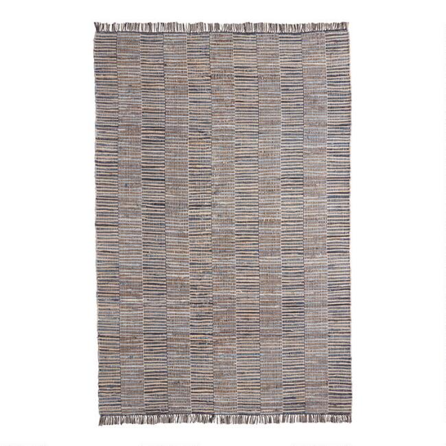 Blue Denim and Jute Woven Fairfax Area Rug