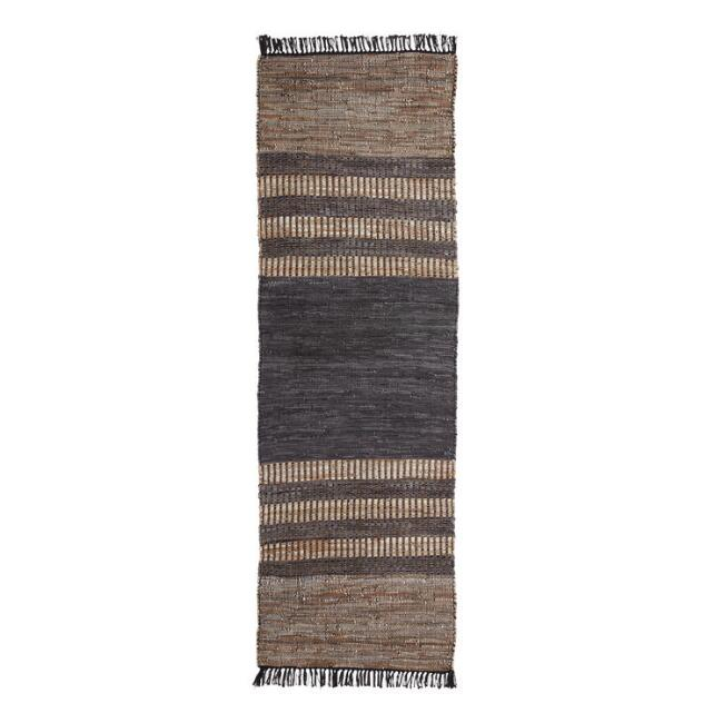 Multicolored Leather and Jute Dipsea Runner