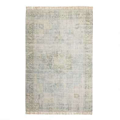 Blue and Green Persian Style Capitola Area Rug