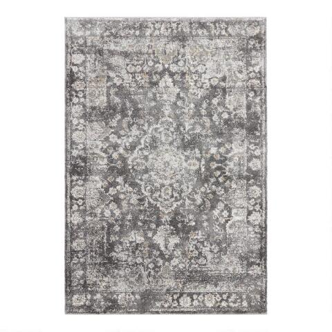 Charcoal Gray Distressed Medallion