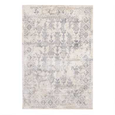 Ivory and Gray Distressed Olema Area Rug
