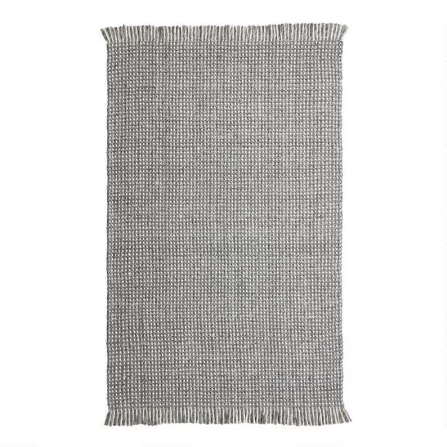 8a2ea6b1d18 Gray and Ivory Chunky Sweater Reversible Cruz Area Rug