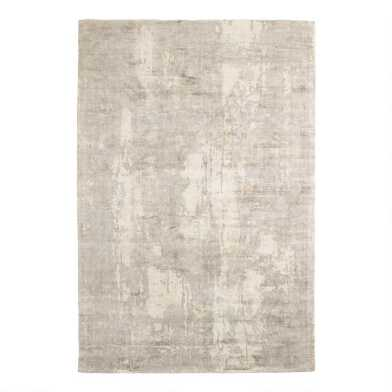 Gray and Light Green Abstract Omni Area Rug